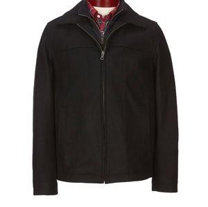 apt.9 Wool Double-Zip Black Coat